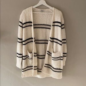 Madewell Striped Bouclé Cardigan